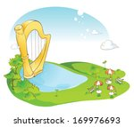 a giant harp in the middle of a ... | Shutterstock . vector #169976693