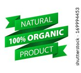 natural  100  organic product... | Shutterstock .eps vector #169994453