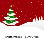 a winter vector background... | Shutterstock .eps vector #16999786