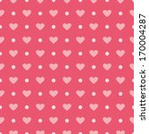 Pink Background With Hearts An...