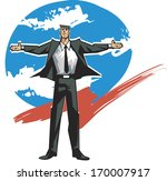 A Businessman With His Arms...