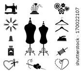 sewing icons | Shutterstock .eps vector #170022107