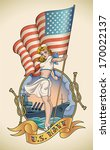 old school us navy tattoo of a... | Shutterstock .eps vector #170022137