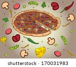 pizza | Shutterstock .eps vector #170031983