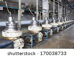 latex machine in factory
