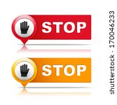 two stop signs  vector eps10...