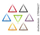 set of blank triangle signs ...