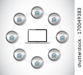 home network connection... | Shutterstock . vector #170049383
