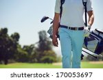 golf player walking and... | Shutterstock . vector #170053697