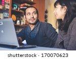 couple in love using notebook | Shutterstock . vector #170070623