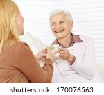 family with senior woman... | Shutterstock . vector #170076563