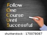 focus   business success concept | Shutterstock . vector #170078087