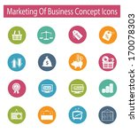 Marketing Of Business Concept...
