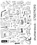 hand drawn arrows | Shutterstock .eps vector #170079293