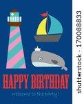 happy birthday | Shutterstock .eps vector #170088833
