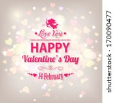 happy valentine's day  holiday... | Shutterstock .eps vector #170090477