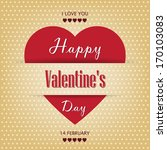 vintage paper valentine's day... | Shutterstock .eps vector #170103083