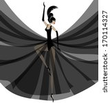 ballerina in black | Shutterstock . vector #170114327