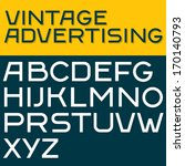 retro type font  vintage... | Shutterstock .eps vector #170140793