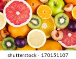 background from many different... | Shutterstock . vector #170151107