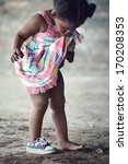 African Poverty Toddler With...