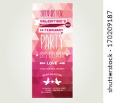 invitation valentine's day... | Shutterstock .eps vector #170209187