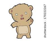 cartoon unhappy teddy bear   Shutterstock .eps vector #170222267