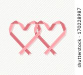 vector banner with two hearts... | Shutterstock .eps vector #170228987
