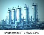 oil and gas processing plant | Shutterstock . vector #170236343