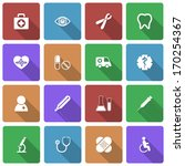 medical icons set with long... | Shutterstock .eps vector #170254367