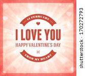 happy valentine's day message... | Shutterstock .eps vector #170272793