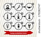 Icons With Lamp  Light ...