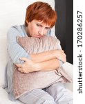 sad adult woman at home. grief... | Shutterstock . vector #170286257