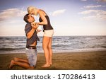 man and woman arguing on the... | Shutterstock . vector #170286413