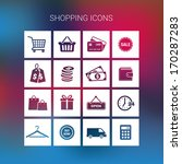 collection of shopping icons on ... | Shutterstock .eps vector #170287283