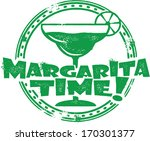 Margarita Time Cocktail Bar Menu Stamp