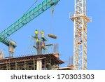 Construction Site With Crane...