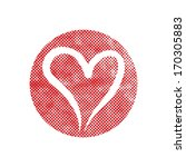 heart vector icon with pixel... | Shutterstock .eps vector #170305883