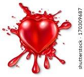 heart splatter concept with a... | Shutterstock . vector #170309687