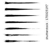 set of grunge brush strokes.... | Shutterstock . vector #170325197