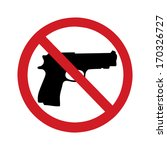 no gun sign   isolated...