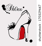 Fashion shoe illustration