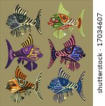 colored fishes   the... | Shutterstock .eps vector #17034607