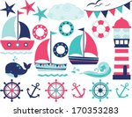sailing away  girl  | Shutterstock .eps vector #170353283