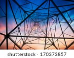 power tower in the sky... | Shutterstock . vector #170373857