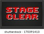 pixel game over computer game... | Shutterstock .eps vector #170391413