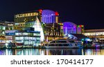 buildings and a boat on the... | Shutterstock . vector #170414177