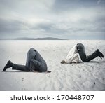 concept of fear of crisis with... | Shutterstock . vector #170448707