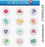 12 seo and marketing buttons...