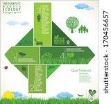 modern green ecology design... | Shutterstock .eps vector #170456657